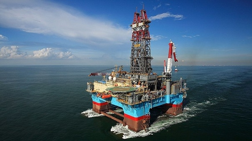 ExxonMobil Exploration Company used the Maersk Developer semi-submersible drilling rig, shown here in a photo from Maersk, to drill ExxonMobil's first post-moratorium deepwater exploration well in the Gulf of Mexico.