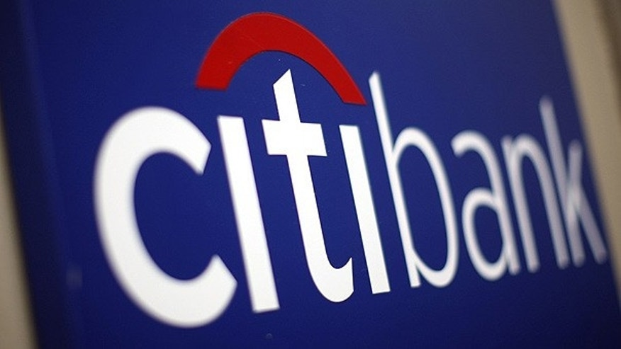 A Citibank sign on a bank branch in midtown Manhattan, New York.