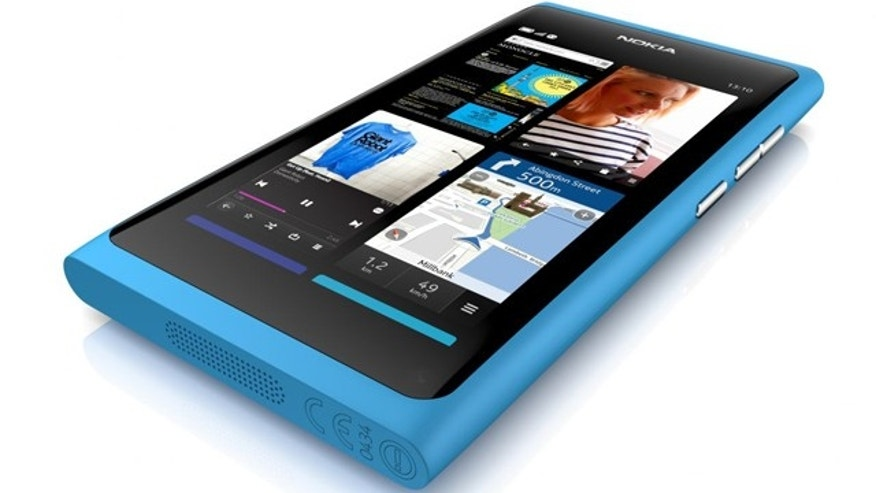 The new Nokia N9, a new touch-screen smartphone with an 8-megapixel camera and a unique, curved-glass display.