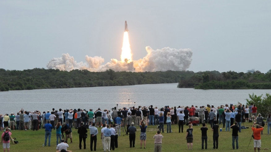 July 8: Space Shuttle Atlantis lifts off in Cape Canaveral, Florida.
