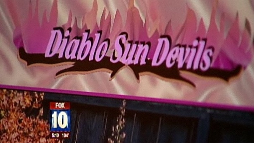 This screengrab from MyFoxPhoenix.com shows part of the homepage of Diablo Sun Devils, a naturist website.