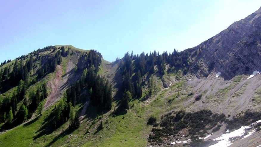 "The Northern Calcareous Alps, where scientists found evidence of a giant, killing ""burp"" of methane emitted hundreds of millions of years ago."