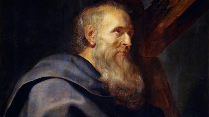 A portrait of St. Philip from around 1611, by the Italian painter Peter Paul Rubens, at the Museo del Prado, Madrid, Spain.
