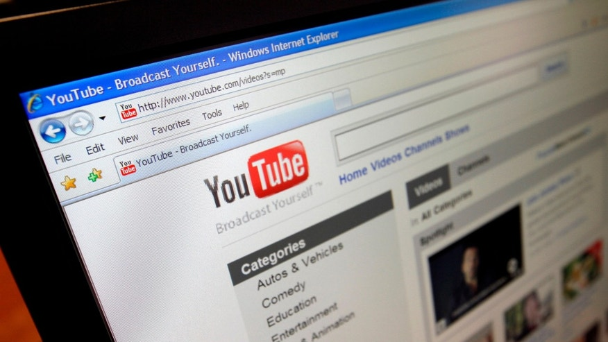 FILE - This file image made March 18, 2010, shows the YouTube website  in Los Angeles. A federal judge sided with Google Inc. on Wednesday, June 23, 2010, in a $1 billion copyright lawsuit filed by media company Viacom Inc. over YouTube videos, saying the service promptly removed illegal materials as required under federal law. (AP Photo/Richard Vogel, File)