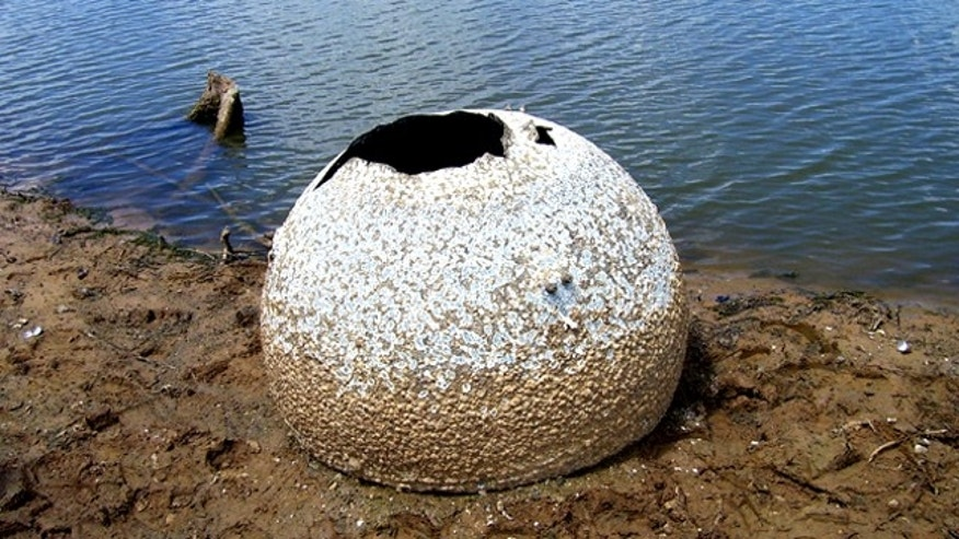 Aug. 1, 2011: Police say low water levels at Lake Nacogdoches in Texas have led to recovery of a container-like object that could be from space shuttle Columbia.