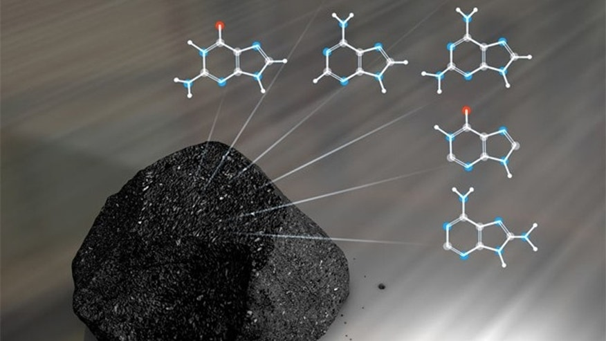 Meteorites contain a large variety of nucleobases, an essential building block of DNA.