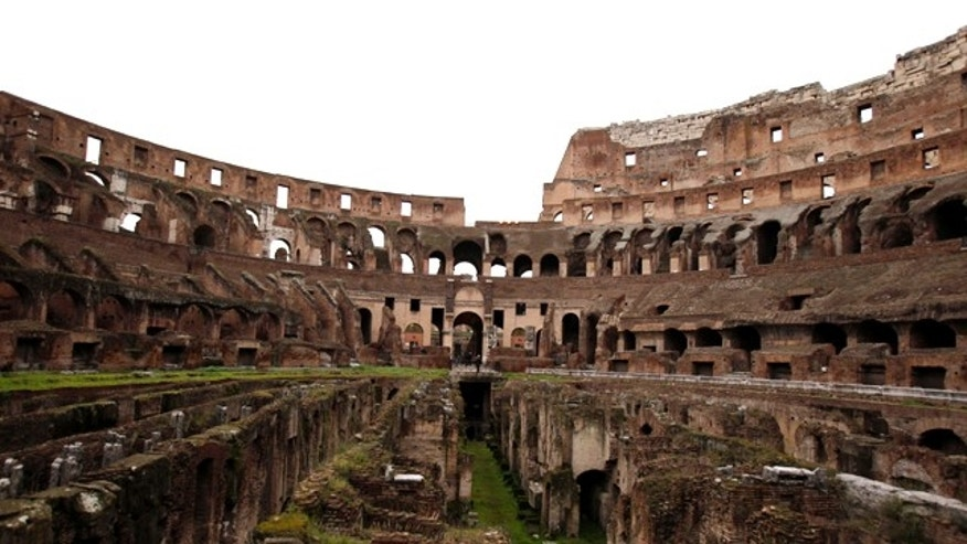 Jan. 21, 2011: A general view of Rome's Colosseum, an ancient monument blackened by pollution and rocked by vibrations from a nearby subway line. The founder of Tod's luxury leather and footwear will foot the 25 million euro ($34 million) bill to restore the ancient structure..
