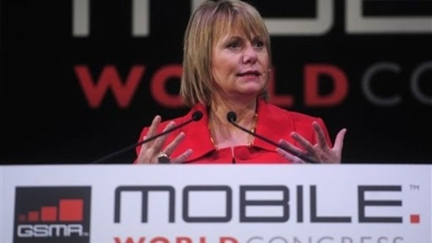 Feb. 16: Chief executive officer of Yahoo Carol Bartz speaks at the Mobile World congress in Barcelona, Spain.