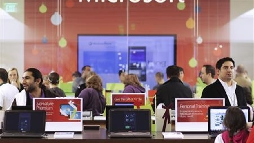 Nov. 18, 2010: Customers shop at the Microsoft store in Bellevue, Washington.