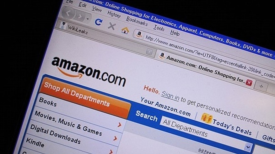 A screenshot of the website for Internet retail giant Amazon.com.