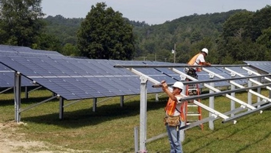 Aug. 4: Crews complete construction of the solar panel structure at the O2 Energies solar panel farm in Newland, N.C.