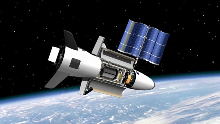 NASA's Marshall Space Flight Center image shows on-orbit functions for the reusable X-37 space plane, now under the wing of the U.S. Air Force.