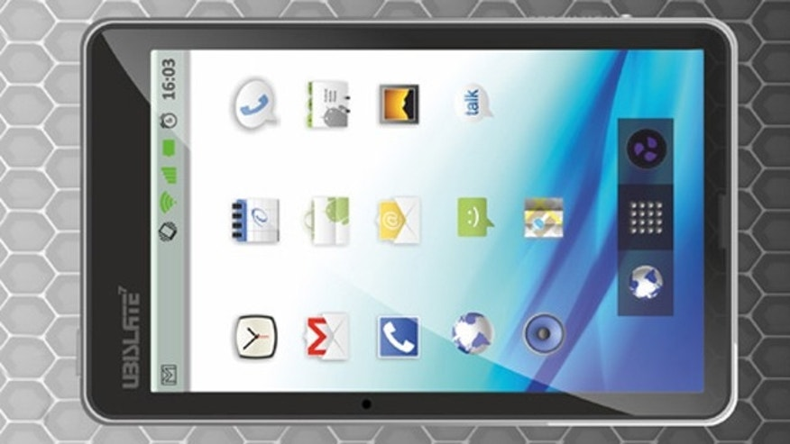 When the world's cheapest tablet goes into commercial production, it will be known as UbiSlate.