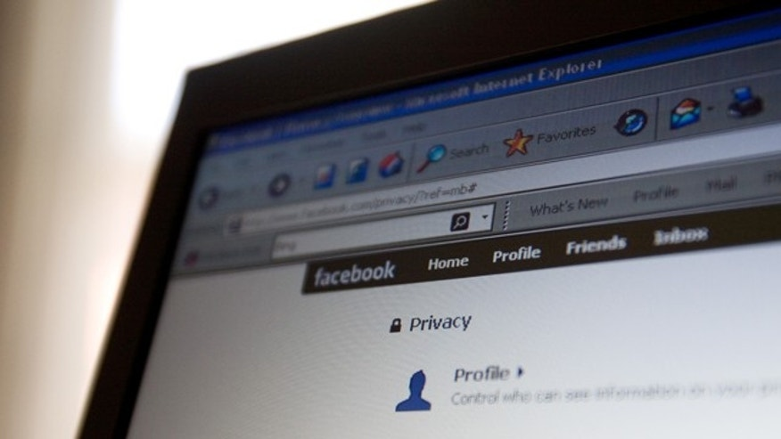 A Facebook user edits privacy settings.