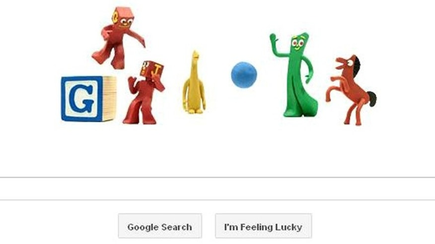Google's homepage has been turned into an animated, stop-motion tribute to Art Clokey, the creator of Gumby, who would have turned 90 Oct. 12.