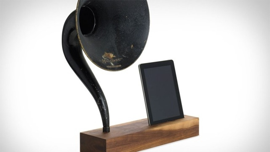 The iVictrola combines cutting edge technology of the early 20th century and the 21st century.