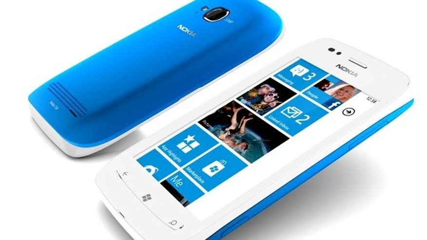 The Nokia Lumia 710, the first Windows Phone-powered smartphone from Nokia.