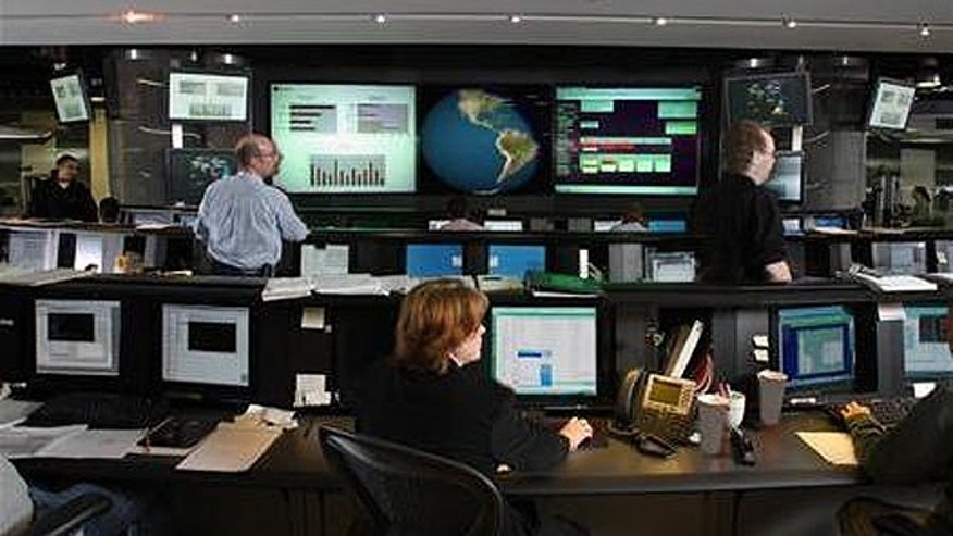 A Symantec Security Operations Center is seen in a handout photo.