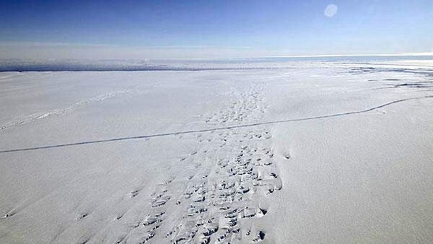 In October, 2011, NASA's Operation IceBridge discovered a major rift in the Pine Island Glacier in western Antarctica.