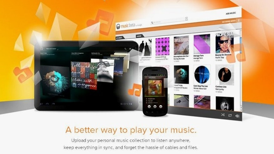 "A screenshot of the website for Music Beta by Google, the company's ""music locker"" service. Google announced the public release of the finished product ""Google Music"" on Wednesday, Nov. 16."