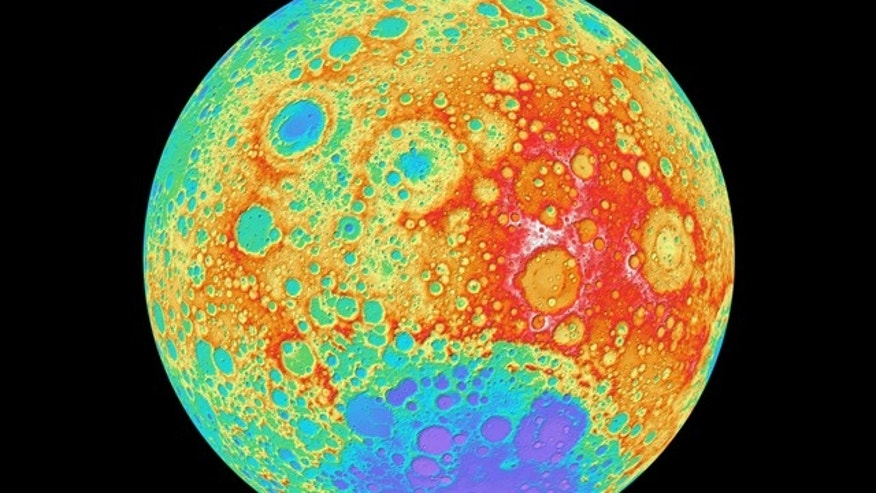 This color-shaded relief view of the moon's far side, taken by NASA's Lunar Reconnaissance Orbiter, is part of the highest-resolution near-global lunar topographic map ever created.