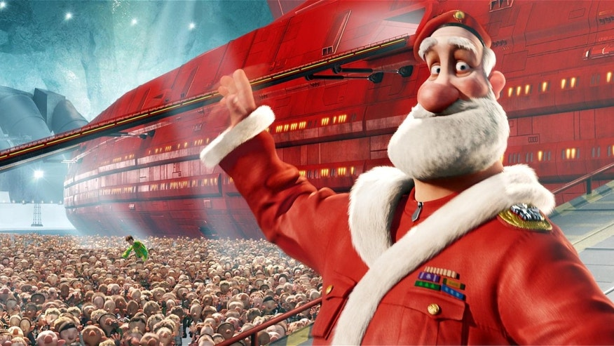"Santa (voiced by Jim Broadbent) in ""Arthur Christmas,"" an animated film produced by Aardman Animations for Sony Pictures Animation."