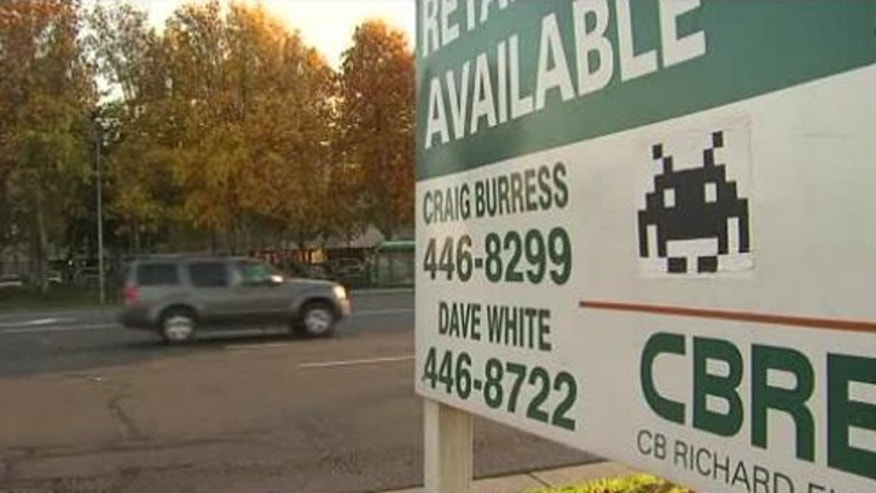 Nov. 29, 2011: Space invaders -- from the video game, not from Mars -- are taking over a city in Sacramento County, Calif.