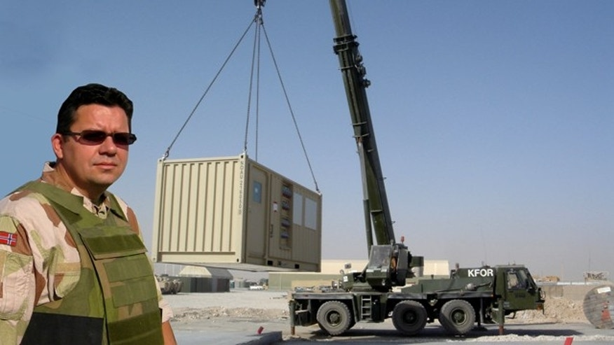Camp Supply International's pop-up bases come in standard shipping containers and can be easily deployed.