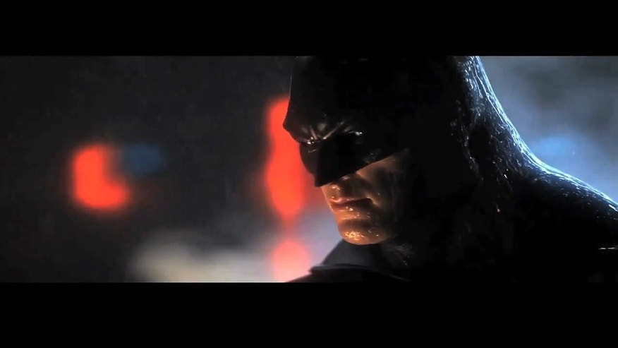 "A screenshot from the trailer for the video game ""Batman: Arkham City"" -- a great gift for the dad on your list."