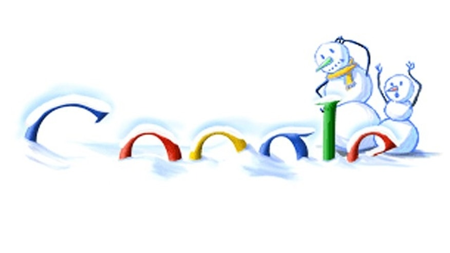 A Google doodle from 2003 that celebrated winter fun.