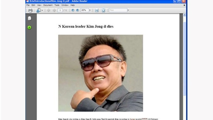 Kim Jong Il related malware has already begun to propagate the web.