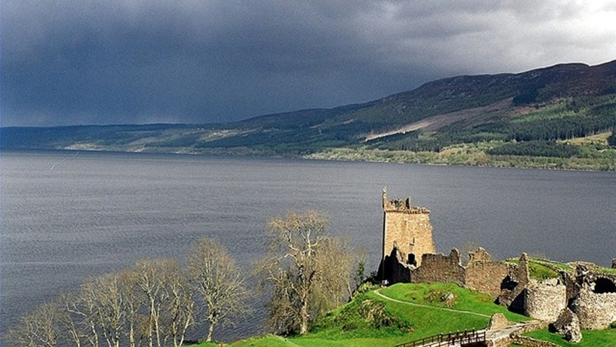 Loch Ness with Urquhart Castle in the foreground.