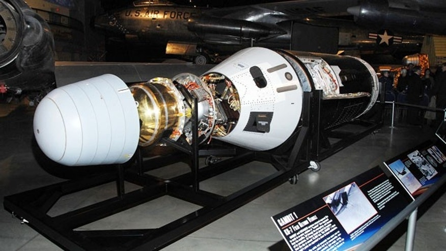 Gambit 1 KH-7 is one of three formerly classified reconnaissance satellites that went on display at the National Museum of the U.S. Air Force in Dayton, Ohio, starting Jan. 26, 2012.