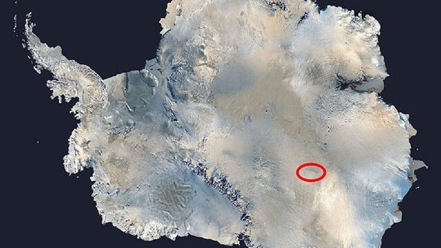 NASA photo of Lake Vostok in Antarctica.