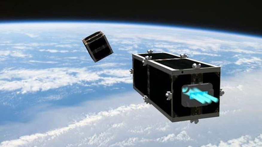 "Feb. 15, 2012: Swiss technologists on Wednesday launched the ""CleanSpace One,"" a project to develop and build the first installment of a family of satellites specially designed to clean up space debris."