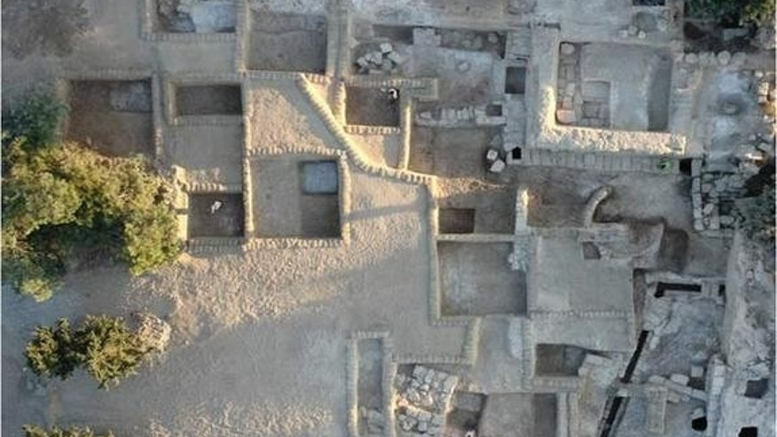 An aerial view of the Ramat Rahel site, where the gardens were discovered.