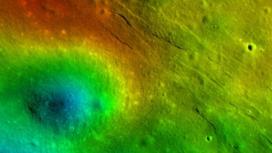 "These newly detected narrow linear troughs are known as ""graben,"" and they formed in highlands of the moon's far side. Forces acting to pull the lunar crust apart formed the Virtanen graben, informally named for a nearby crater."