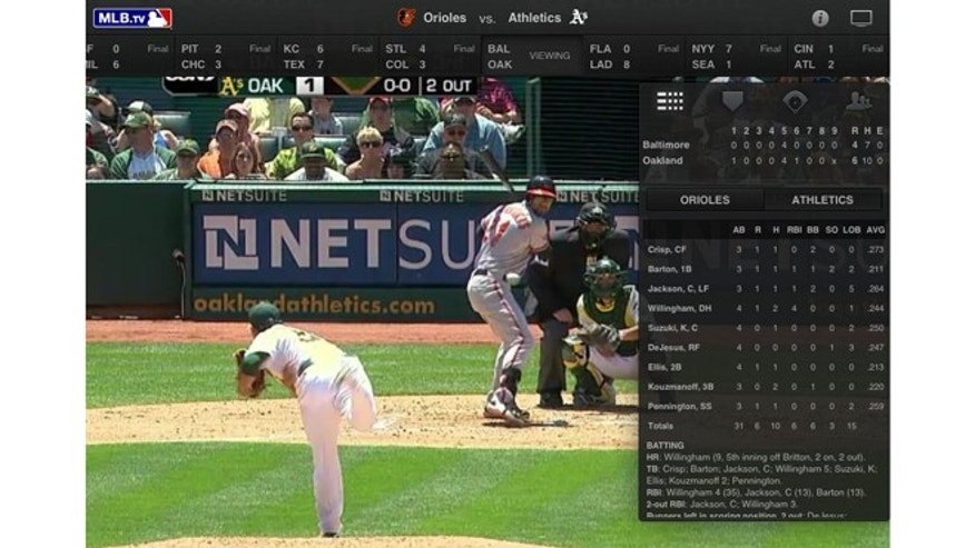 The 2012 MLB At Bat app will let you watch baseball wherever you are, on an iPad or Android-based device.
