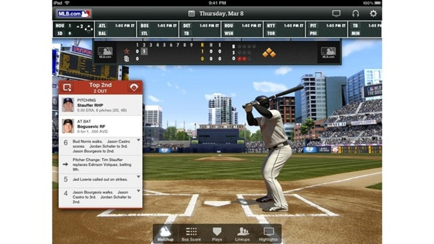 The MLB At Bat app will let you watch basedball wherever your are, on your iPad or Android-based device.
