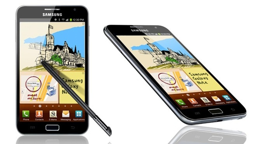 "The Samsung Galaxy Note, a 5.3-inch smartphone so large that some are dubbing it a ""super phone."""