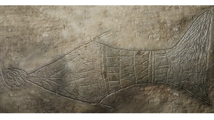 "A CGI-enhanced image of ""Jonah and the Whale,"" an engraving that has led some Biblical scholars to conclude that a tomb in Jerusalem is the last resting place of the prophet Jonah."