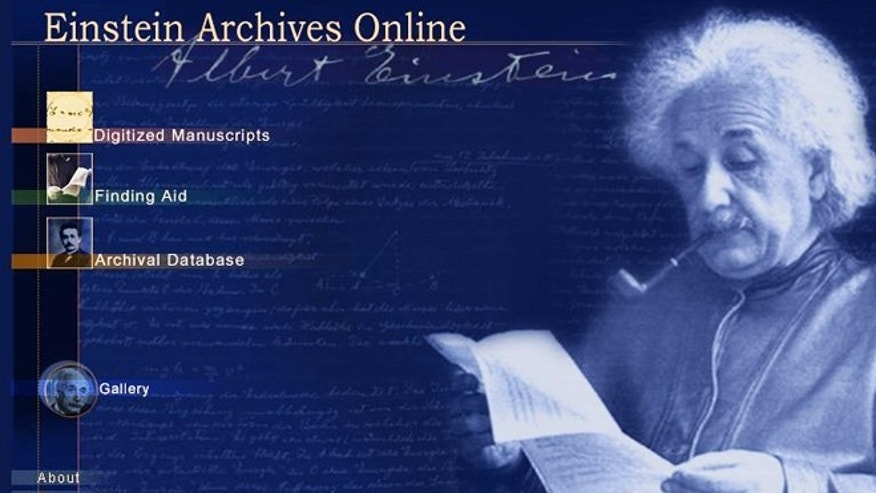 March 19, 2012: A screenshot of the Einstein Archives website, which launched on the web for the first time, offering the public a nuanced and fuller portrait of the man behind the scientific genius.