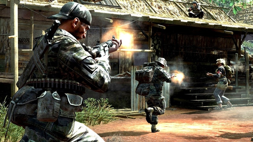 "A scene from the popular video game ""Call of Duty: Black Ops."""
