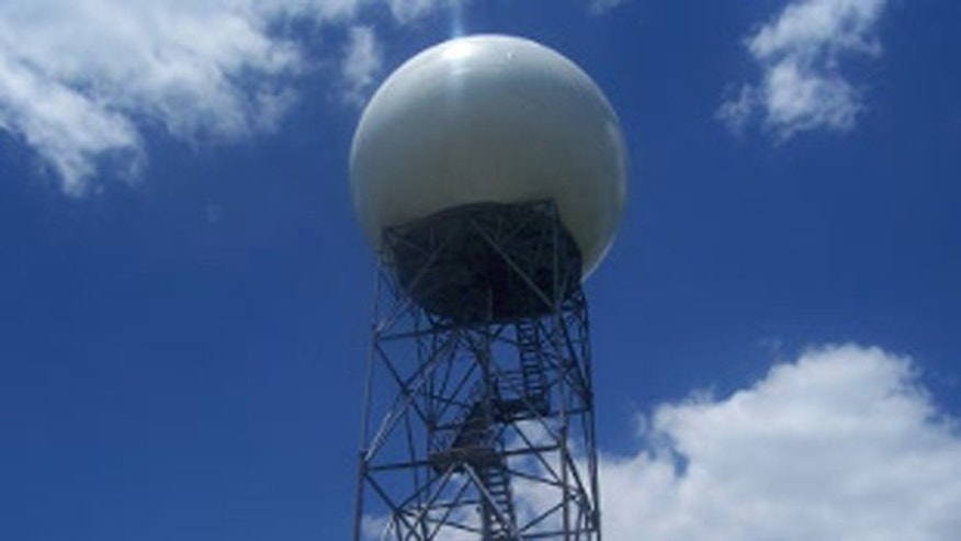 The upgraded Doppler radar in Hytop, Ala., used by the National Weather Service Forecast office to more accurately see incoming tornadoes.