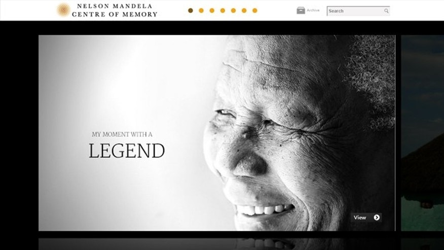 A screenshot of the website for the Nelson Mandela archives, made public Tuesday, March 27, 2012 thanks to a collaboration between Google and the Nelson Mandela Foundation.