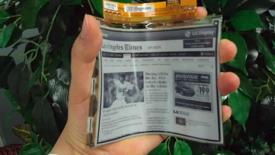 Mar. 29, 2012: LG Displays announced plans to begin manufacturing flexible LCD screens, suggesting that roll-up ebooks are just around the corner.