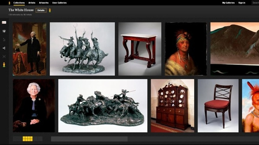 The White House art collection, as presented on the Google Art Project website.