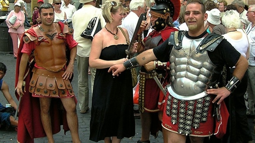 Costumed gladiators will no longer be allowed to pose for pictures and ask for money around Rome's Colosseum.