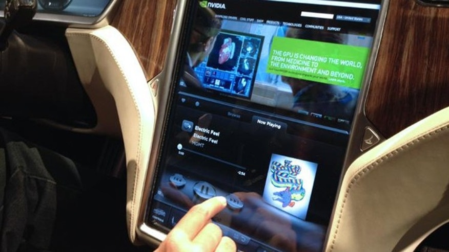 At the 2012 Consumer Electronics Show, the new Tesla S Sedan made headlines with a 17-inch Nvidia-backed screen that looked more like a tablet than a car entertainment.