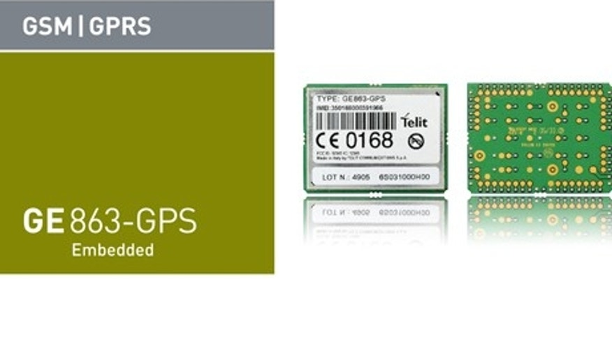 This is Telit's GE853 GPS device, the smalled GPRS/GSM module currently in the market.